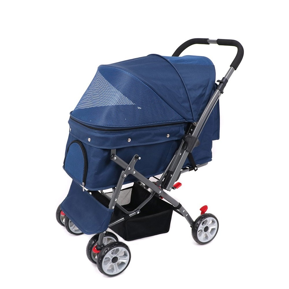 IREENUO Four-wheeled dog pram