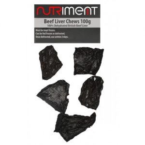 Beef liver chews from nutriment